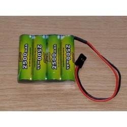 Pack accus NiMh 4,8 volts 2500 Mah (JR)