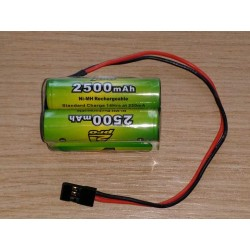 Pack accus  Box NiMh 4,8 volts 2500 Mah (JR)
