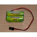 Pack accus cube NiMh 4,8 volts 2500 Mah (JR)