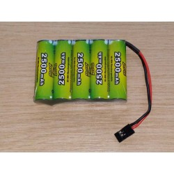 Pack accus NiMh 6 volts 2500 Mah (JR)
