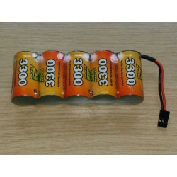 Pack accus NiMh 6 volts 3300 Mah (JR)