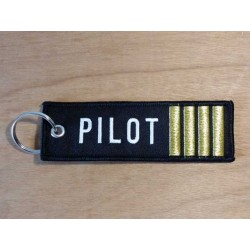 "Porte clés ""REMOVE BEFORE FLIGHT PILOT"""